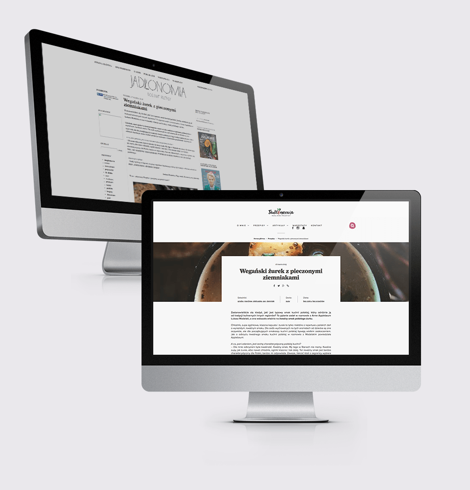 Redesign of the blog by Emilia Obrzut