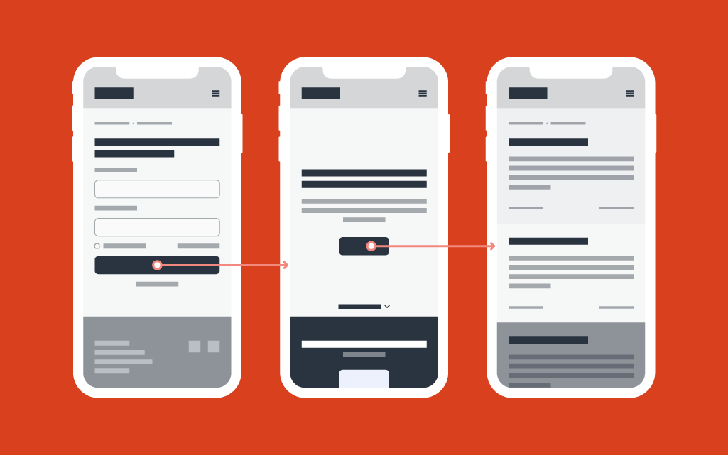 Website prototype illustration